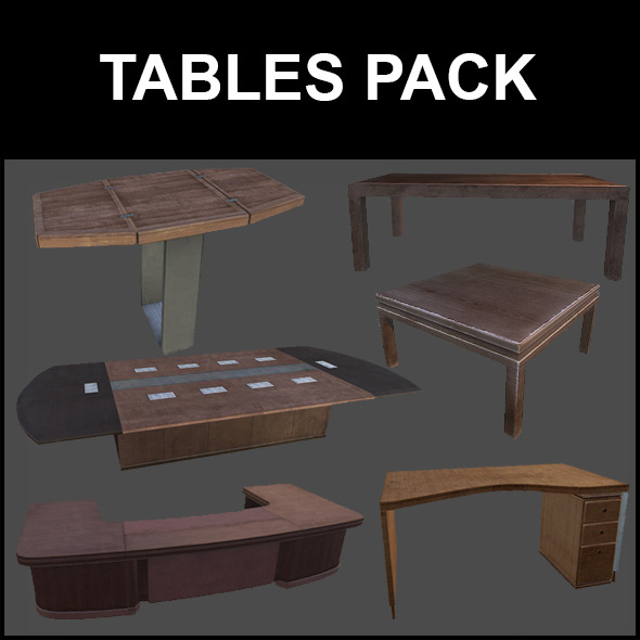 Tables Pack - 3DOcean Item for Sale