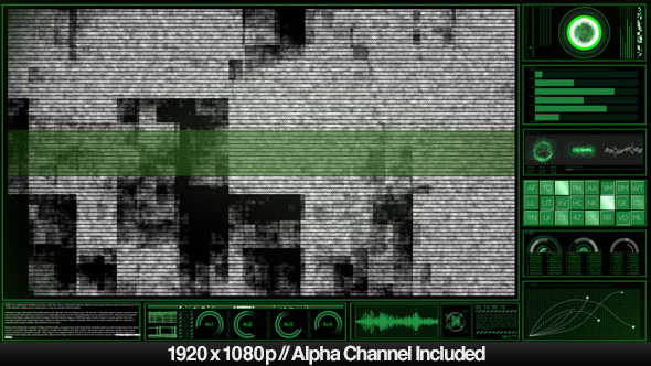 High Tech HUD Video Monitor Display Alpha Overlay by butlerm ...