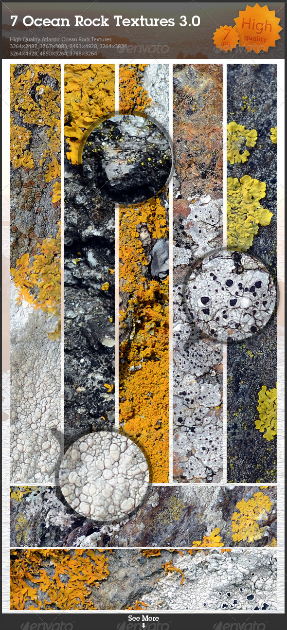 7 Ocean Rock Textures 3.0 - Stone Textures