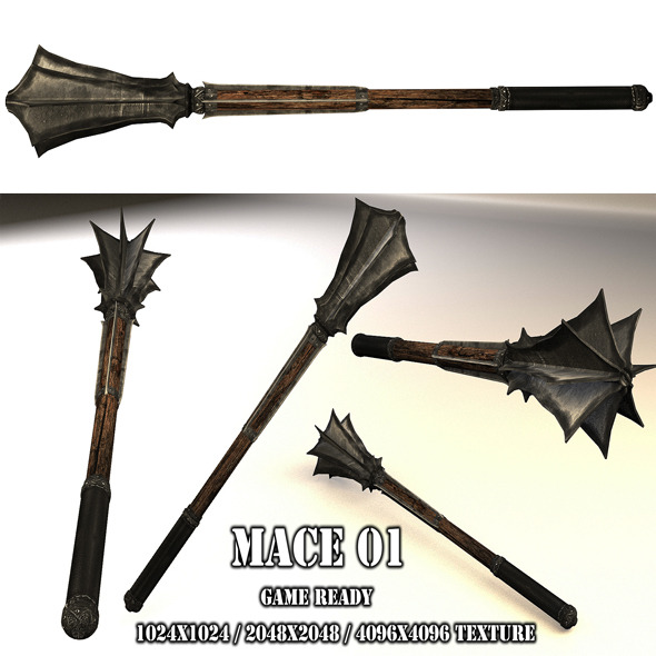 Mace 01 - 3DOcean Item for Sale