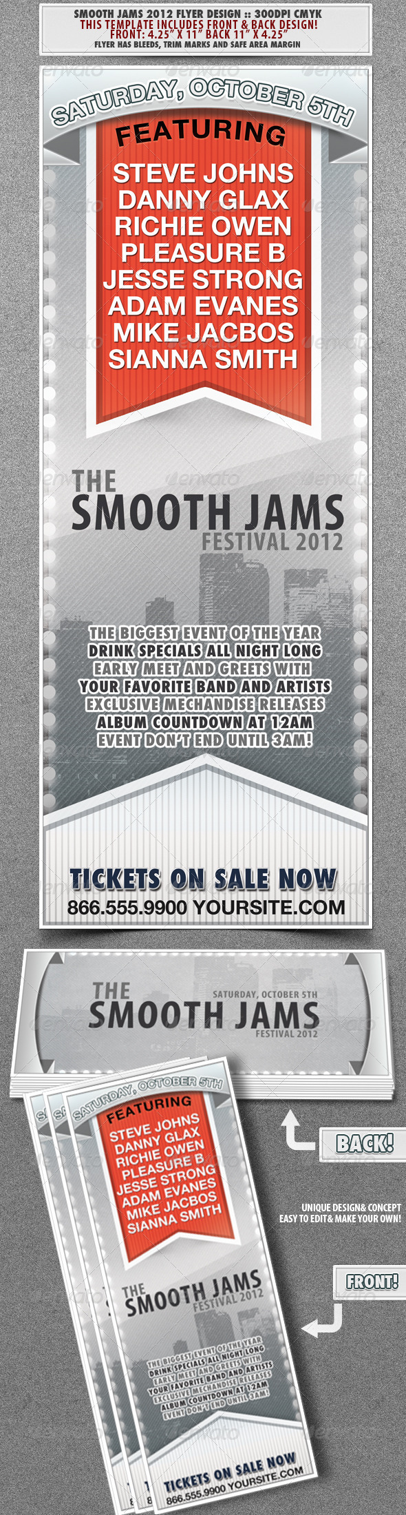 Smooth Jams 2012 Event Flyer - Concerts Events