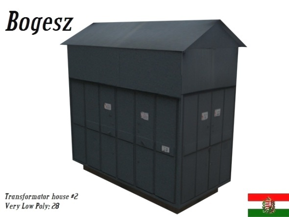 Textured Low Poly Transformator House - 3DOcean Item for Sale