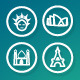 25 Vector Icons Travel - GraphicRiver Item for Sale