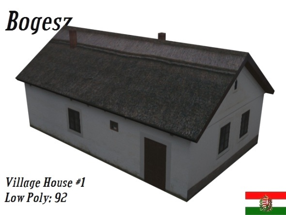 Textured Village House (Low Poly) - 3DOcean Item for Sale