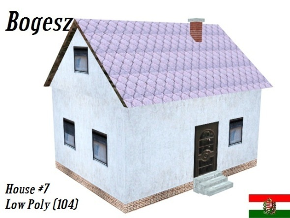 Textured House #7 (Low Poly) - 3DOcean Item for Sale