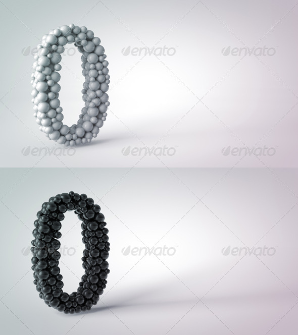 Abstract Object Number Zero on the Table - Objects 3D Renders