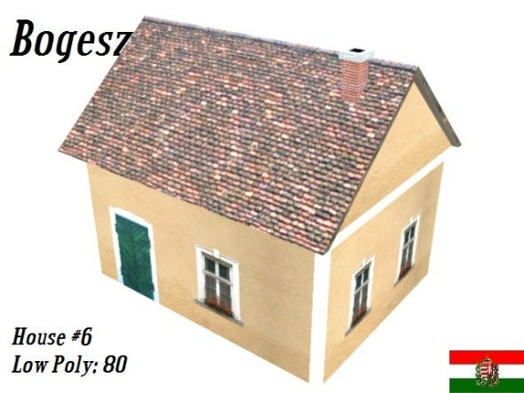 Textured Small House (Low Poly) - 3DOcean Item for Sale