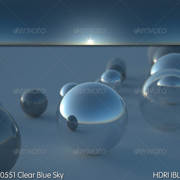 HDRI IBL 0551 Clear Blue Sky - 3DOcean Item for Sale