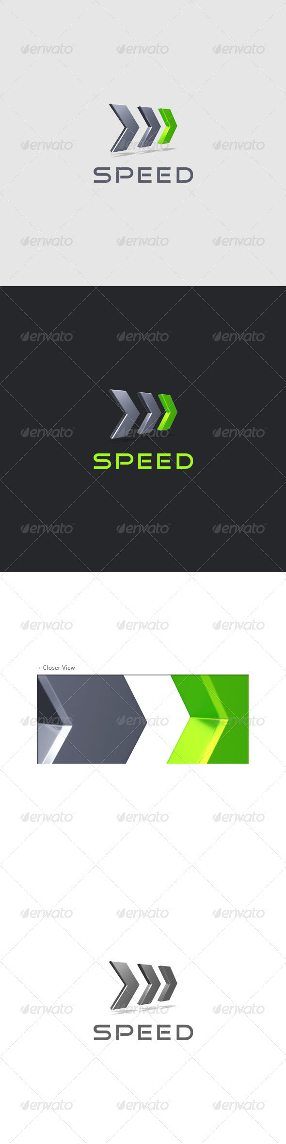 Speed - Performance Logo 3D - 3d Abstract