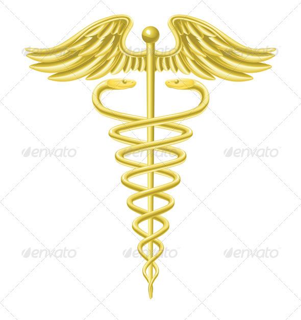 Caduceus Gold Medical Symbol By Krisdog Graphicriver