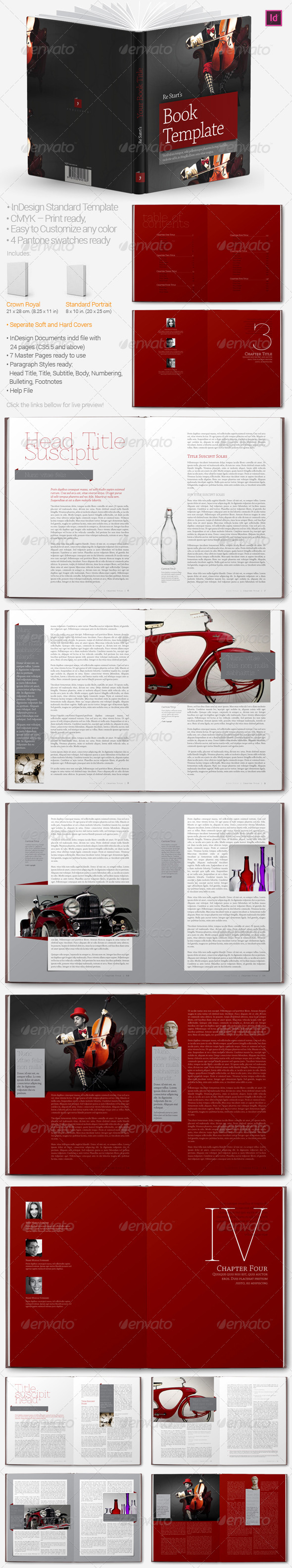 Book Templates - Miscellaneous Print Templates
