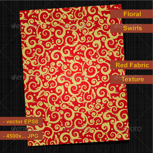 Red and Gold Ornate Background - Christmas Seasons/Holidays