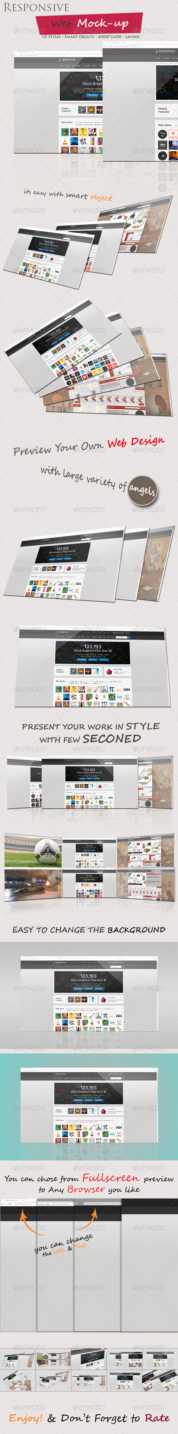 Responsive Web Mock-up - Displays Product Mock-Ups