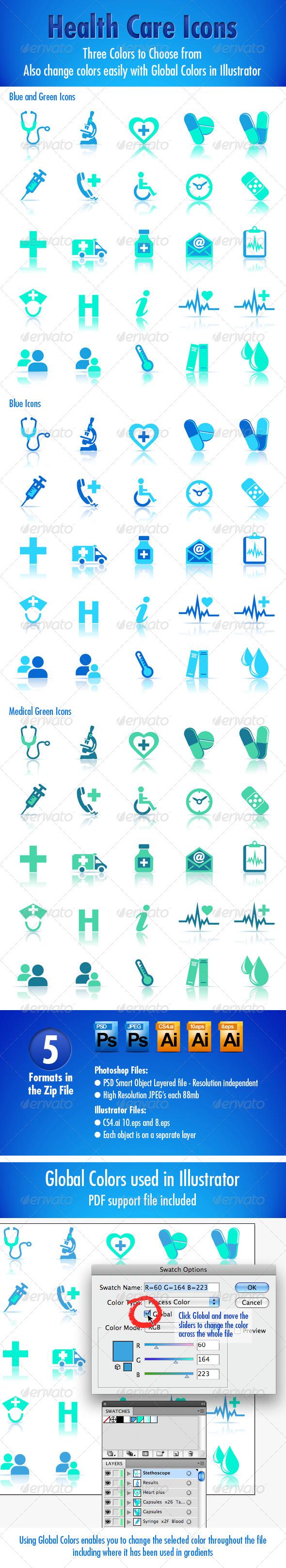 Health Care Icons - Health/Medicine Conceptual
