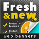 Fresh Web Marketing Banners - GraphicRiver Item for Sale