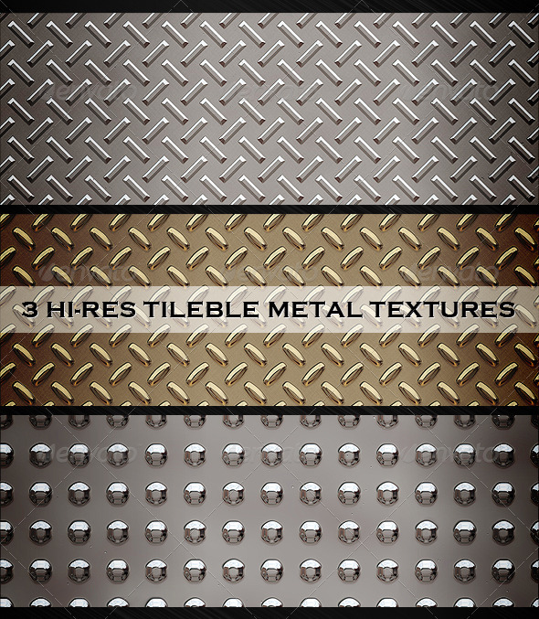 3 tileble metal textures - Metal Textures