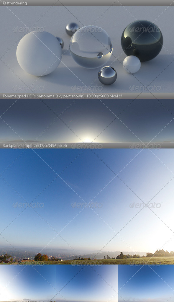 HDRI spherical sky panorama -0836- misty morning - 3DOcean Item for Sale