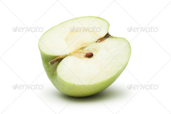 Fresh Green Apple Slice - Stock Photo - Images