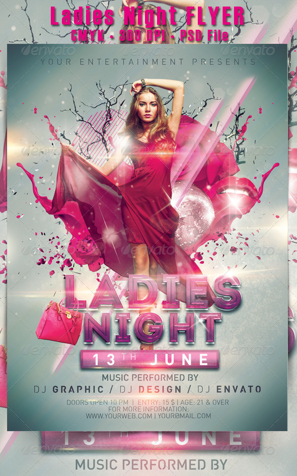 Ladies Night Flyer - Events Flyers