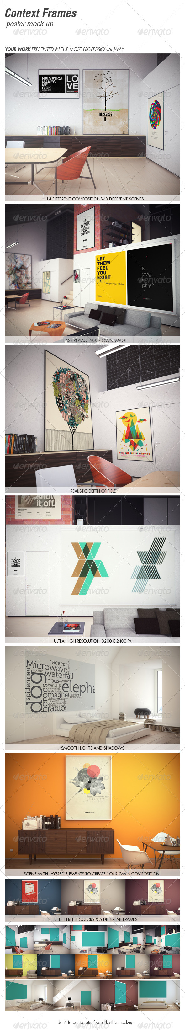 CONTEXT FRAMES poster mock-up vol. 2  - Product Mock-Ups Graphics