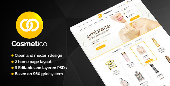 Cosmetico – Beauty Shop PSD Template