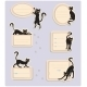 6 Cat Labels - GraphicRiver Item for Sale