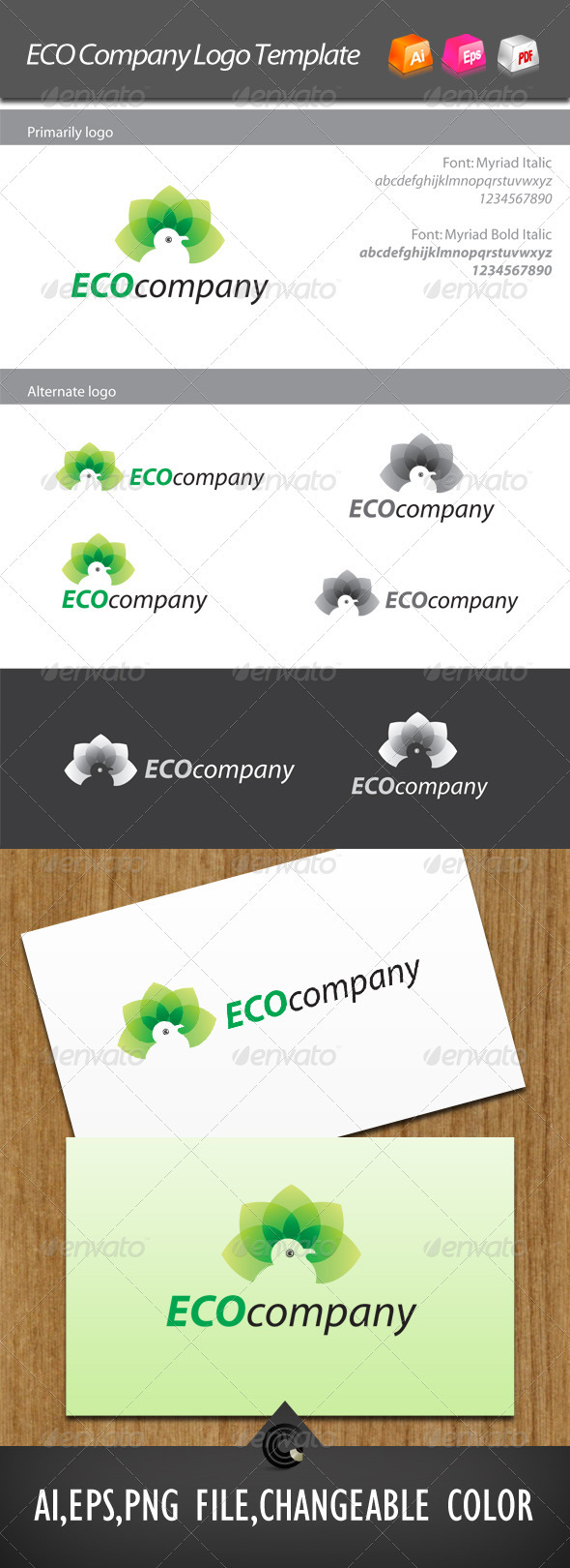 ECO Company Logo Template - Nature Logo Templates