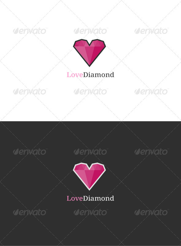 Love Diamond Logo - Objects Logo Templates