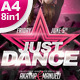 A4 Just Dance Party Club Flyer 8in1 - GraphicRiver Item for Sale