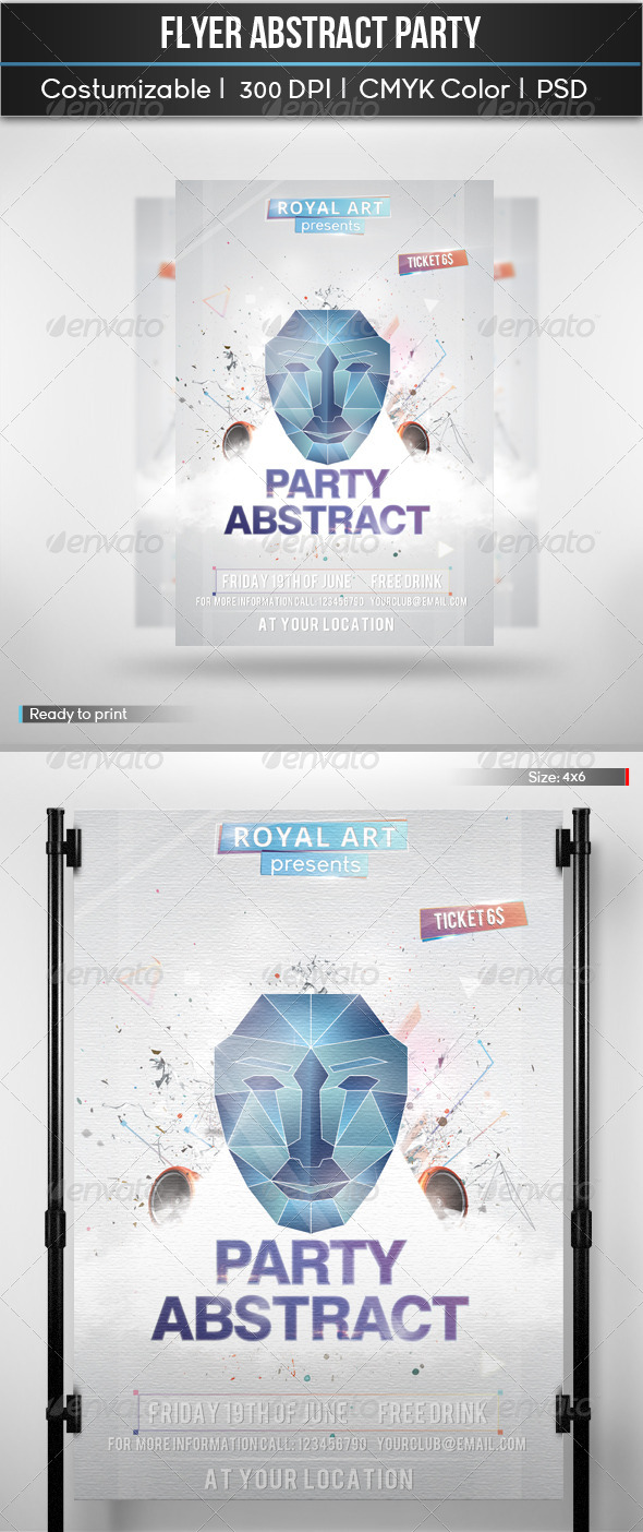 Flyer Abstract Party - Clubs & Parties Events