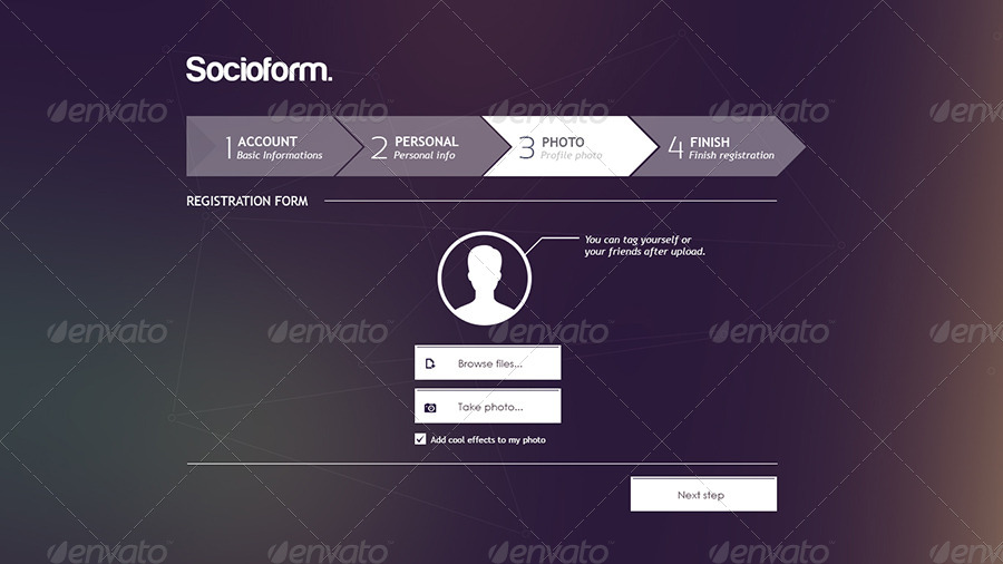 Socioform full sign up form by murga graphicriver for User creation form template