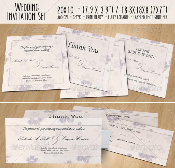 wedding invitation set - 02 by toasy | graphicriver, Wedding invitations