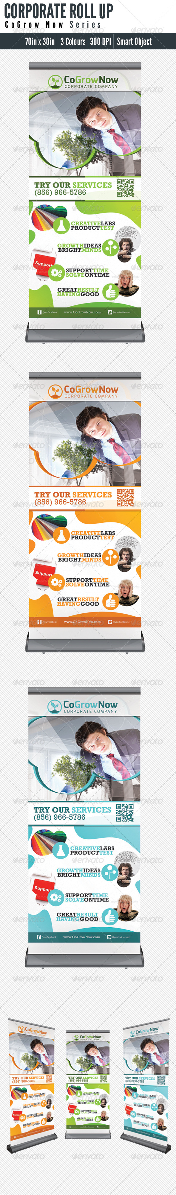 Roll Up Banner Corporate - Signage Print Templates
