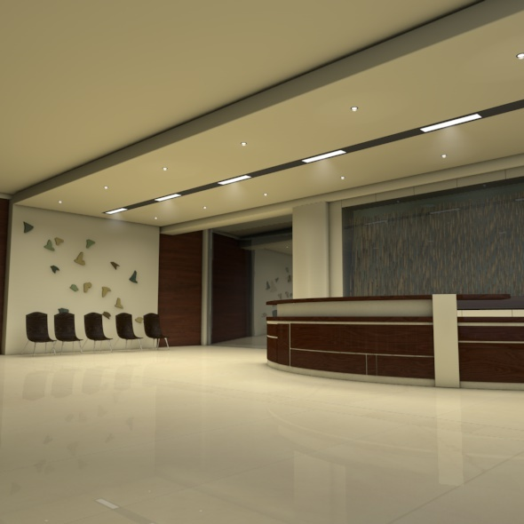 Office Reception Area - 3DOcean Item for Sale