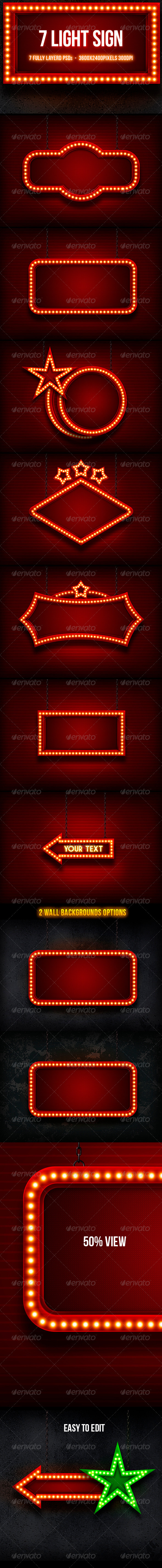 Light Sign - Backgrounds Graphics