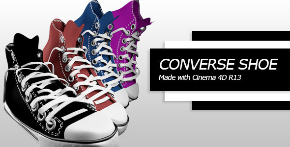 Converse shoe C4D - 3DOcean Item for Sale
