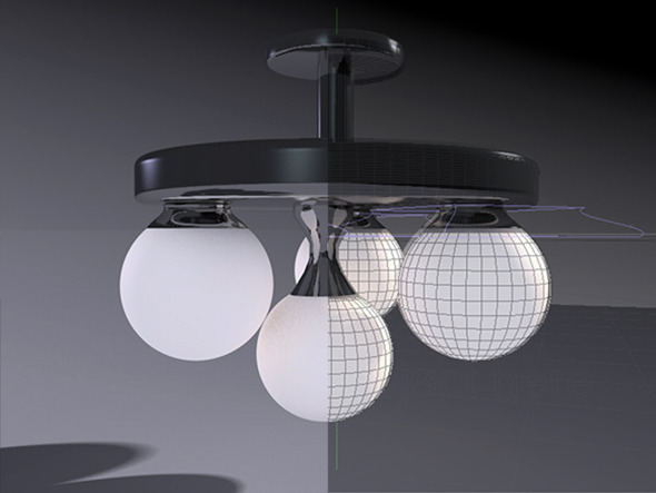 Trio Wall Droplight - 3DOcean Item for Sale