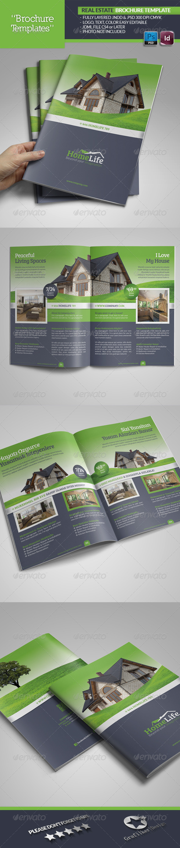 Real Estate Brochure Template - Brochures Print Templates
