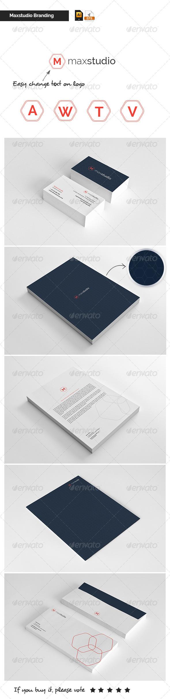 Stationary & Brand Identity - Maxstudio - Stationery Print Templates