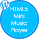 HTML5 Mini Music Player With Playlist - WP Plugin - CodeCanyon Item for Sale