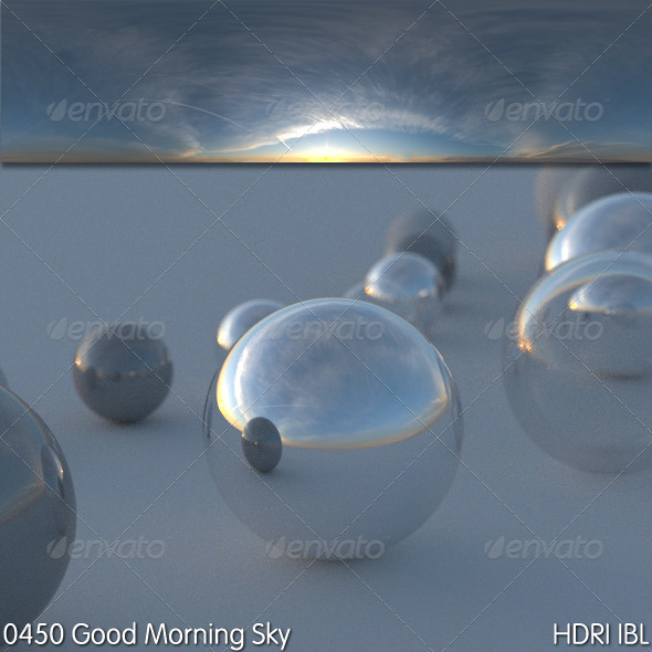 HDRI IBL 0450 Good Morning Sky - 3DOcean Item for Sale