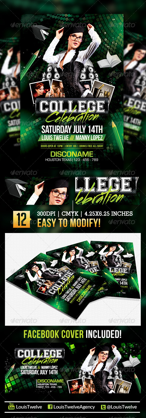 Back to School 2 | Flyer + Facebook Cover - Clubs & Parties Events