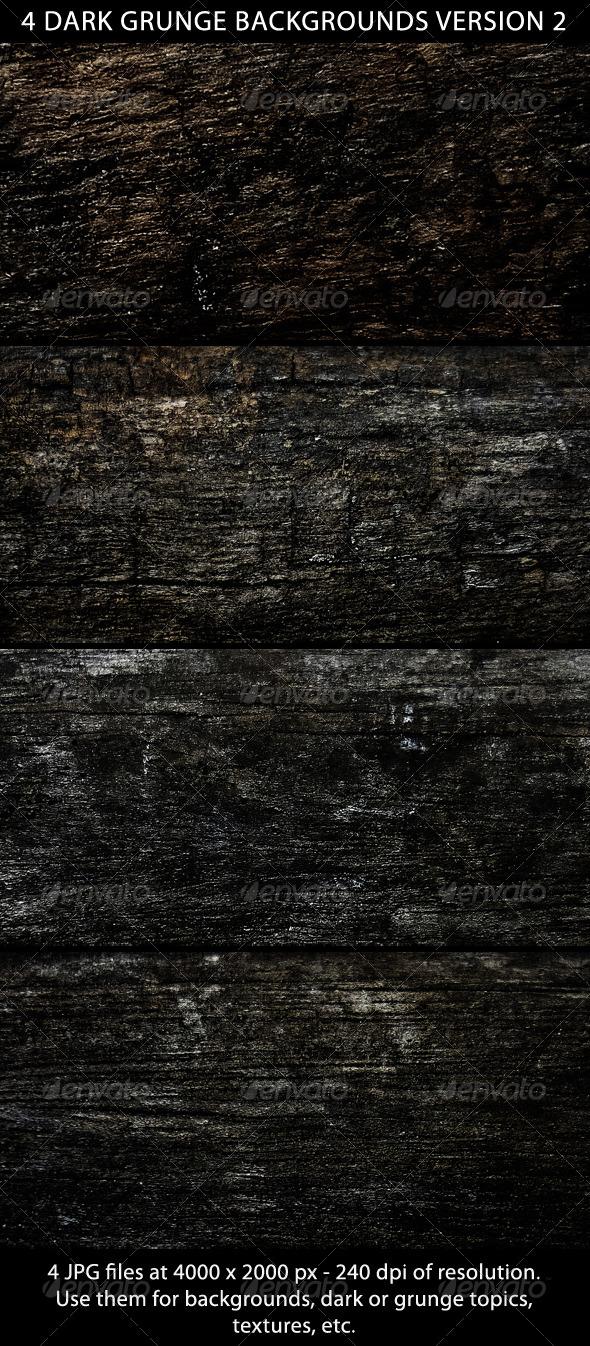 4 Dark Grunge Backgrounds Version 2 - Urban Backgrounds