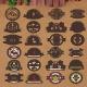 Organic Green Retro Vintage Badges - GraphicRiver Item for Sale