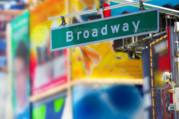Broadway street sign - Stock Photo - Images