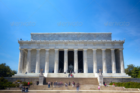 The Lincoln Memorial - Stock Photo - Images
