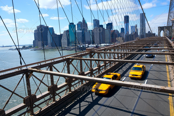 Manhattan skyline - Stock Photo - Images