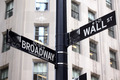 Broadway and Wall Street Signs - PhotoDune Item for Sale