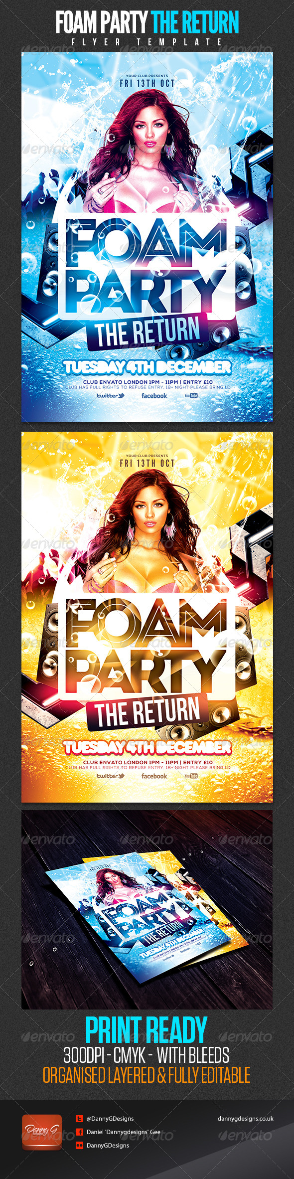 Foam Party The Return Flyer Template - Clubs & Parties Events