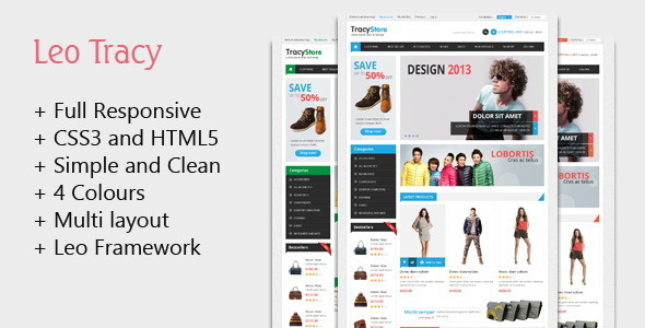 Leo Tracy Prestashop Theme for Fashion | Stylish | Clothes | Multistore - Fashion PrestaShop
